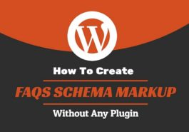 how to create faqs schema markup in wordpress without plugin
